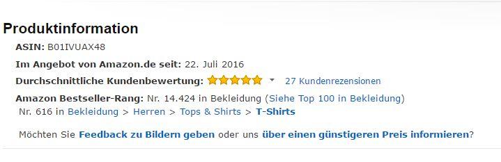 Amazon Bestseller rank