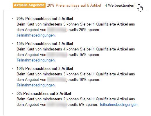 Kortingscode Amazon aanmaken - Promotion message actie Amazon maken
